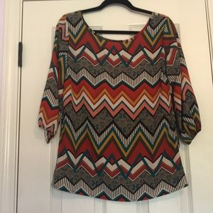 Auditions Tops - 3/4 sleeve tunic blouse